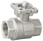 Кран шаровой полнопроходной из нержавеющей стали муфтовый с ISO-Фланцем VANTA 44-091