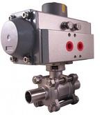 Кран шаровой полнопроходной разборный под приварку с пневмоприводом двойного действия VANTA 44-022-61