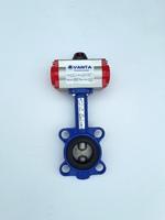 Затвор дисковый поворотный межфланцевый с пневмоприводом двойного действия VANTA 12-009-61