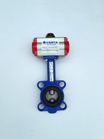 Затвор дисковый поворотный межфланцевый с пневмоприводом двойного действия VANTA 12-015-61