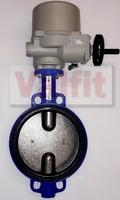 Затвор дисковый поворотный межфланцевый с четвертьоборотным электроприводом ГЗ 220В VANTA 12-004-901