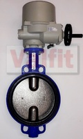 Затвор дисковый поворотный межфланцевый с четвертьоборотным электроприводом ГЗ 220В VANTA 12-009-901