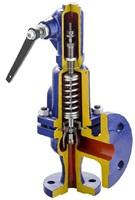 Клапан предохранительный чугунный пружинный фланцевый с рукояткой для принудительного открытия тип: 630А