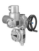 Комбинация многооборотного привода и неполнооборотного редуктора auma для управления шаровыми кранами и дисковыми затворами больших диаметров