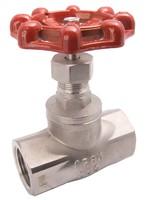Клапан запорный проходной муфтовый из нержавеющей стали VANTA 15-008