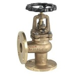 Клапан угловой невозвратно-запорный бронзовый фланцевый VANTA 15-022