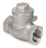 Клапан обратный поворотный из нержавеющей стали муфтовый VANTA 82-018