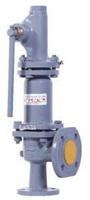 Клапан предохранительный пружинный фланцевый с рукояткой для принудительного открытия тип: 17С25НЖ