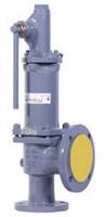 Клапан предохранительный пружинный фланцевый с рукояткой для принудительного открытия тип: 17С6НЖ