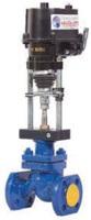 Клапан запорно-регулирующий из нержавеющей стали фланцевый с ЭИМ тип: 25НЖ947П