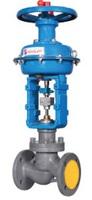 Клапан регулирующий односедельный стальной фланцевый нормально открытый с МИМ тип: 25С47НЖ