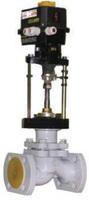 Клапан запорно-регулирующий стальной фланцевый с ЭИМ тип: 25С947П