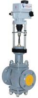 Клапан регулирующий двухседельный стальной фланцевый с ЭИМ тип: 25С998НЖ