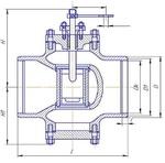Клапан регулирующий под приварку Т-136БМ