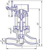 Клапан запорный проходной под приварку Т-108Б