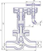 Клапан запорный проходной под приварку Т-110Б