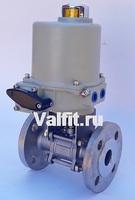 Шаровой кран 3-х составной фланцевый VANTA 44-018-901 с электроприводом ГЗ 220В