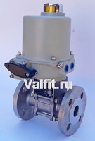 Шаровой кран 3-х составной фланцевый VANTA 44-019-901 с электроприводом ГЗ 220В